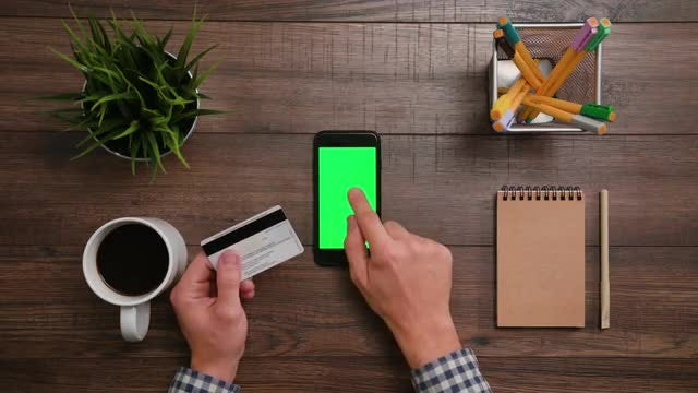 Online Shopping Payment with Smartphone: Stock Video