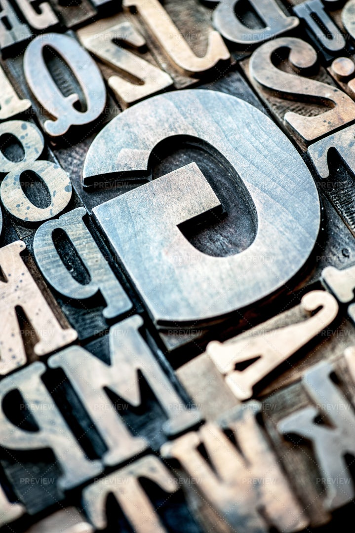 Wooden Typographical Letters: Stock Photos
