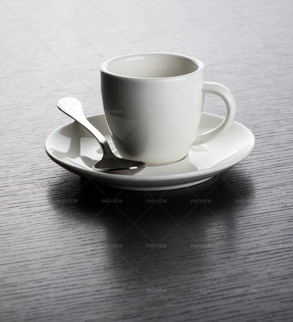 Empty White Espresso Cup: Stock Photos