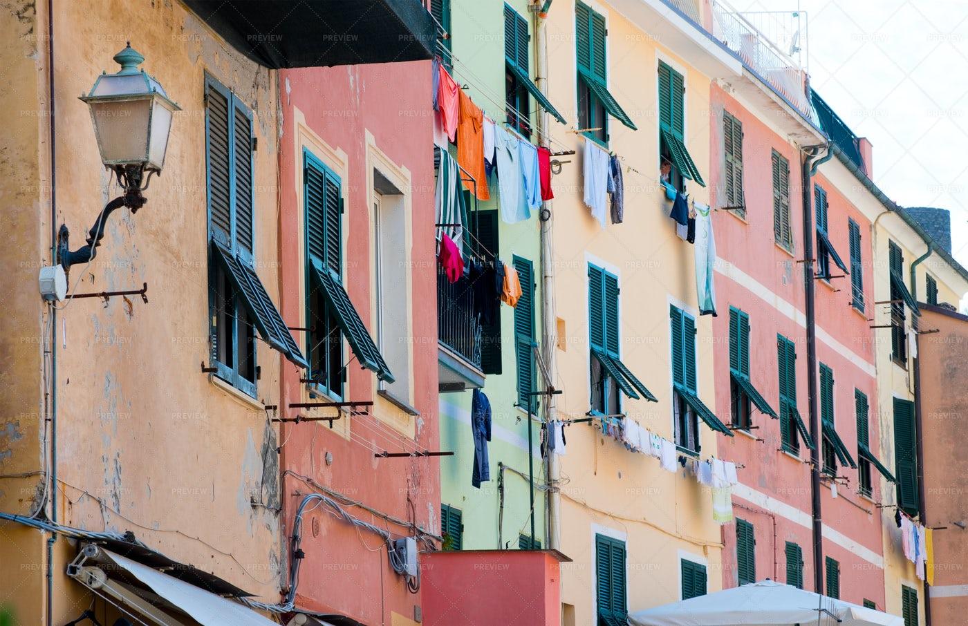Italian Ligurian Houses: Stock Photos