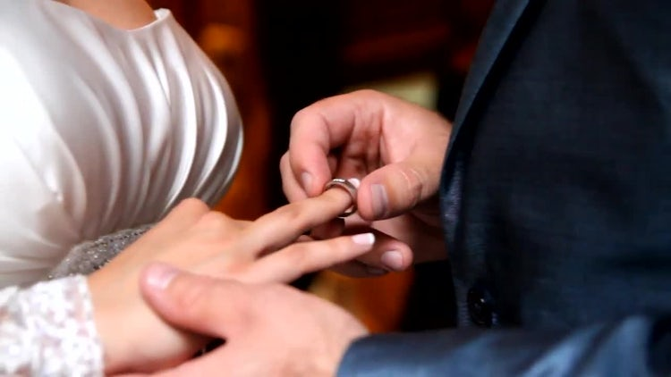 Wedding Ring for the Bride: Stock Video