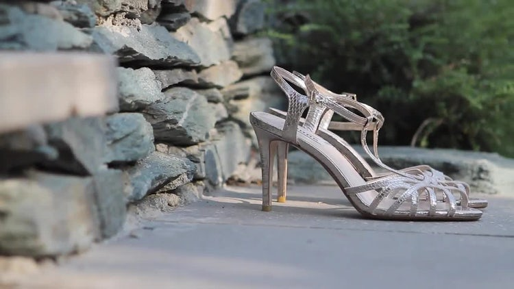 Bride's Wedding Shoes: Stock Video