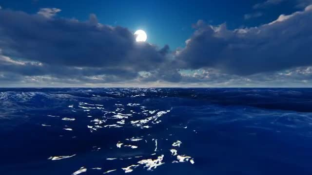 Fly Over The Ocean: Stock Motion Graphics
