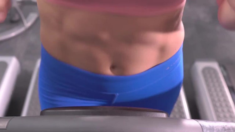 Woman Abs in the Gym: Stock Video