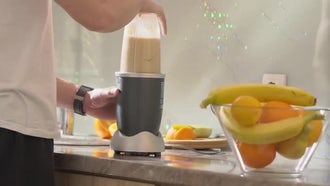 Fruit Smoothie In A Blender: Stock Video