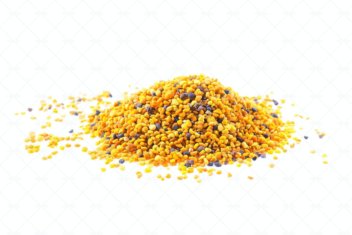 Grains Of Bee Pollen: Stock Photos