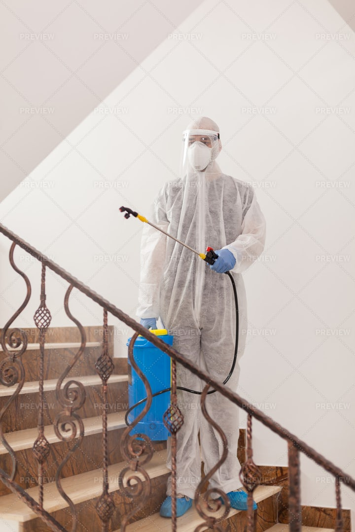 Man In Protective Suit: Stock Photos