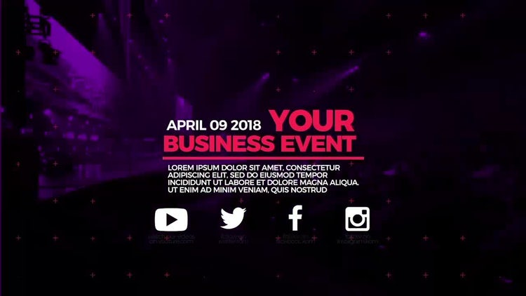 Business Event Promo: After Effects Templates