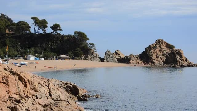 Empty Beach Beautiful Weather: Stock Video