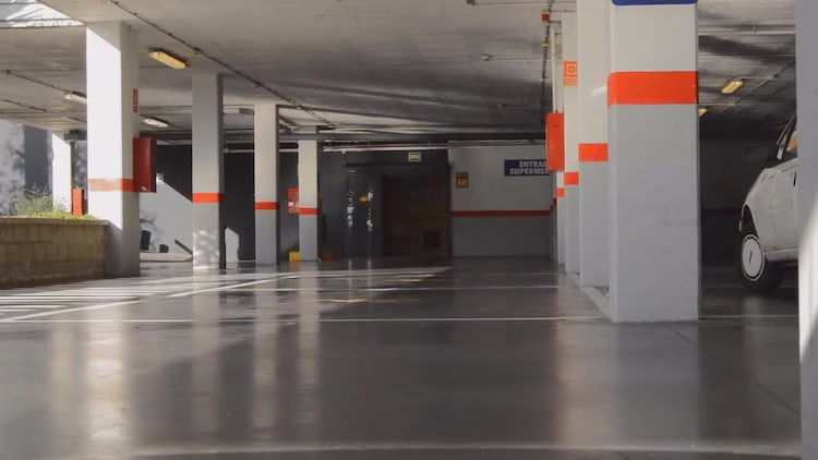 Basement Garage Parking Lot Entrance: Stock Video