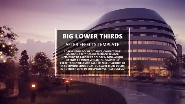 Big Lower Thirds: Motion Graphics Templates