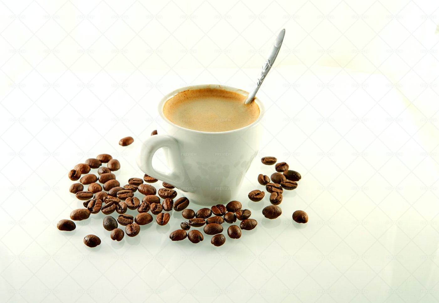 Coffee Cup And Beans: Stock Photos