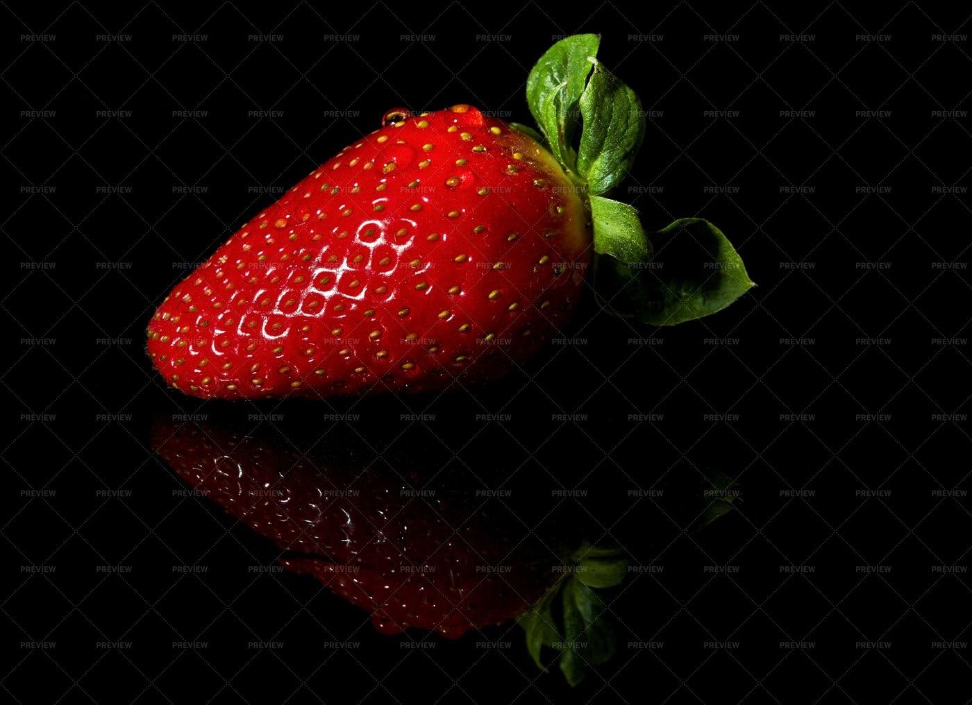 Strawberry On Dark: Stock Photos