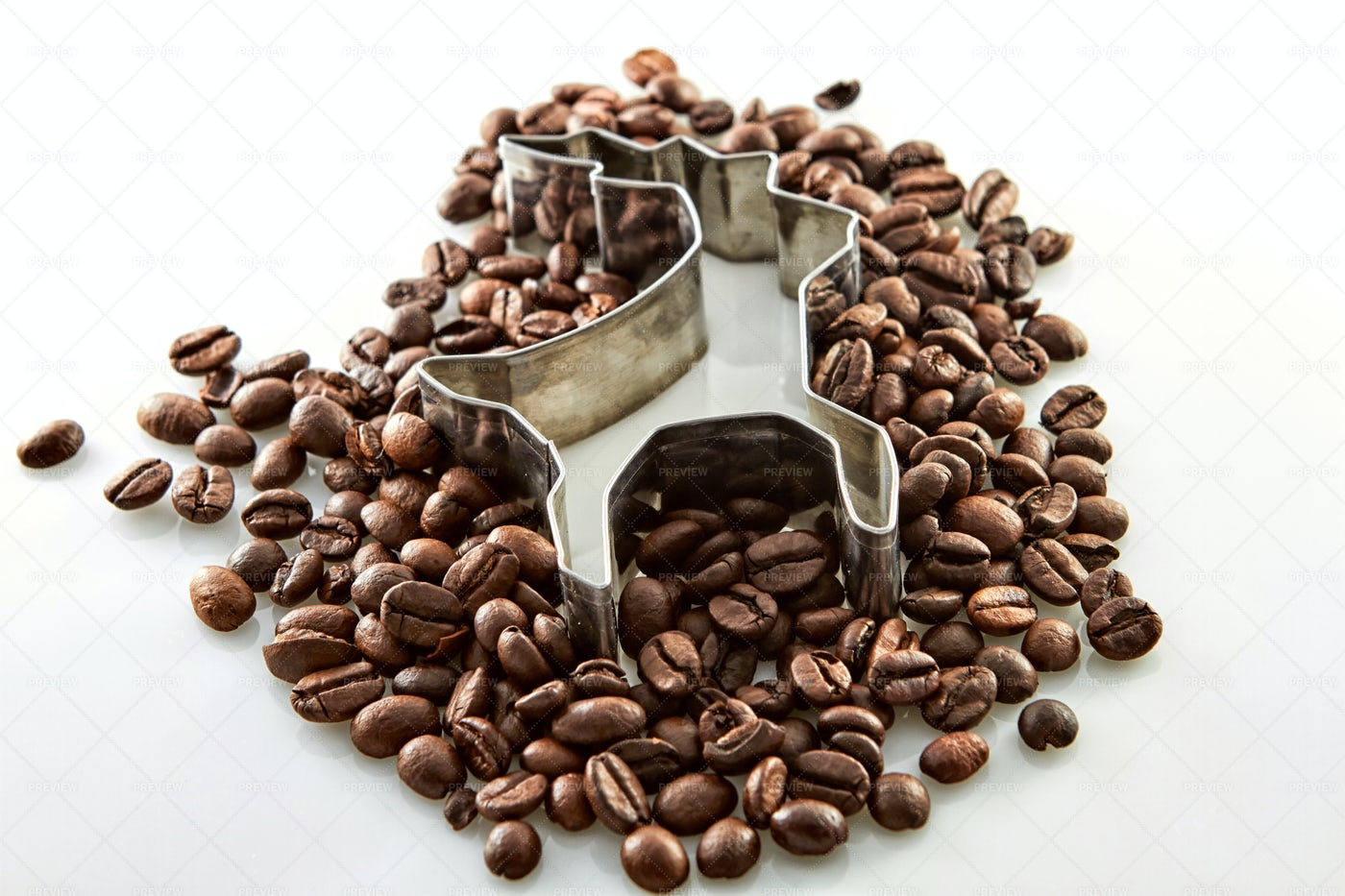 Cookie Cutter And Coffee: Stock Photos
