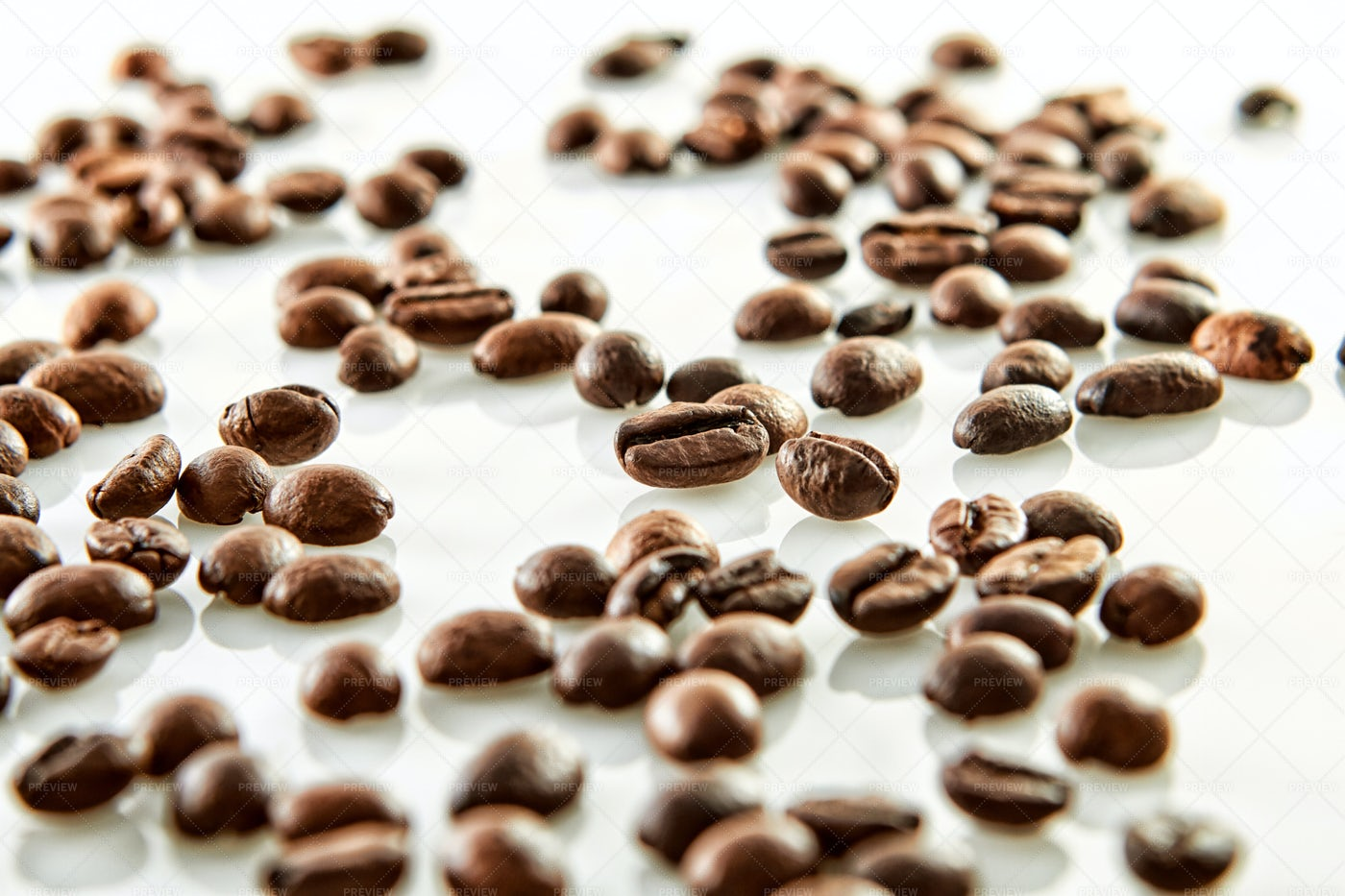 Scattered Coffee Beans: Stock Photos