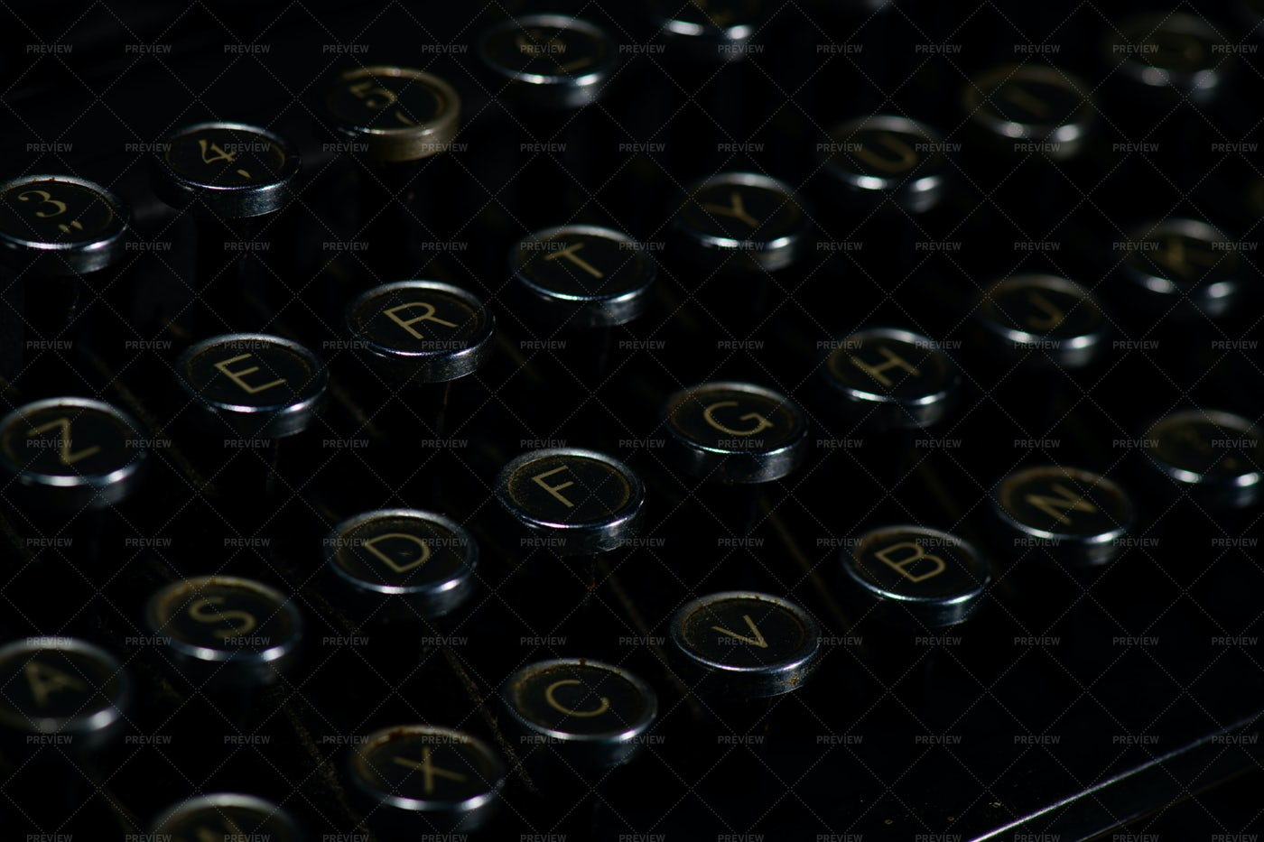 Vintage Typewriter Keys: Stock Photos