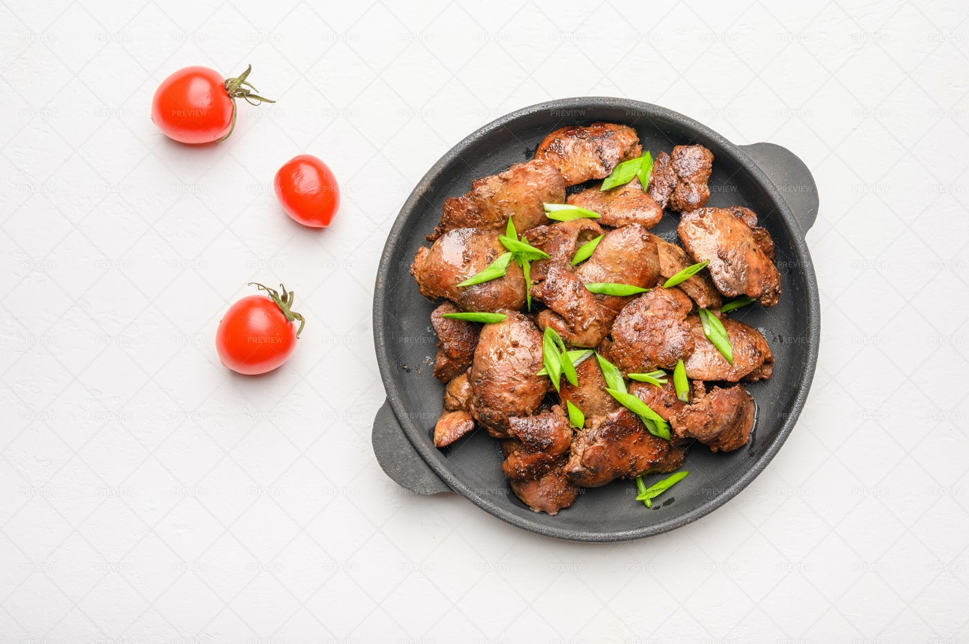 Chicken Dish And Tomatoes: Stock Photos