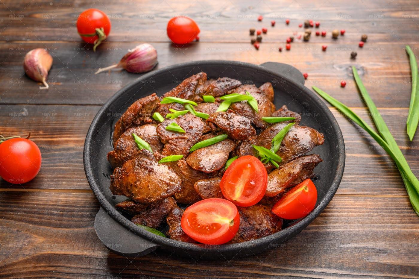 Chicken Liver Dish: Stock Photos