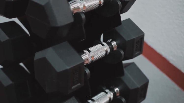Returning Dumbells To Rack: Stock Video
