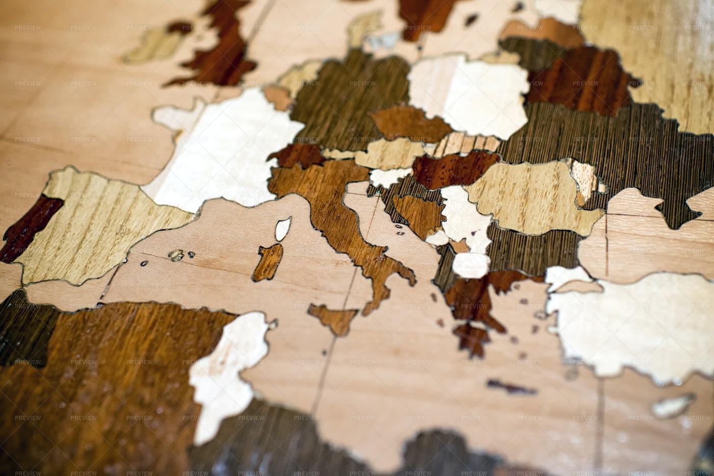 Wooden World Map: Stock Photos