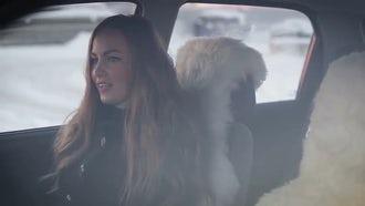 Woman Jamming In Car : Stock Video