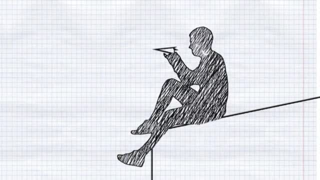 Animated Man Pencil Drawing Effect: Stock Motion Graphics