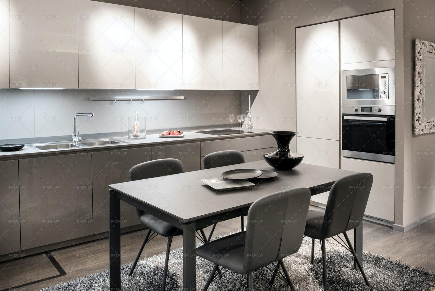Monochrome Kitchen: Stock Photos