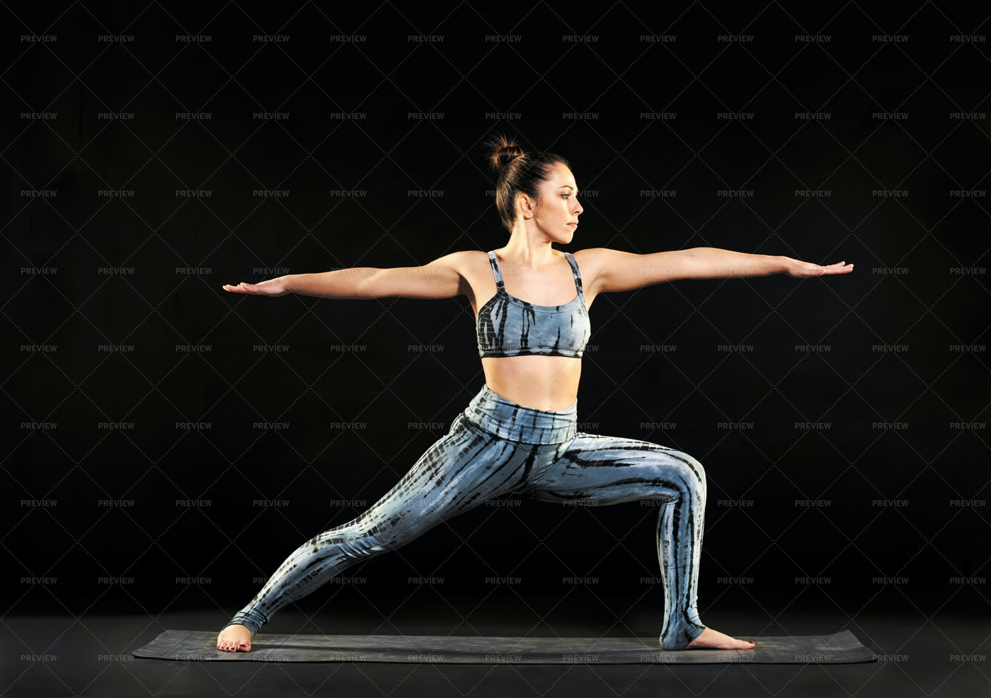 Warrior Yoga Pose: Stock Photos