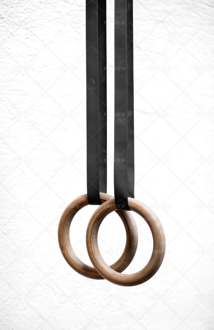 Wooden Sport Rings: Stock Photos