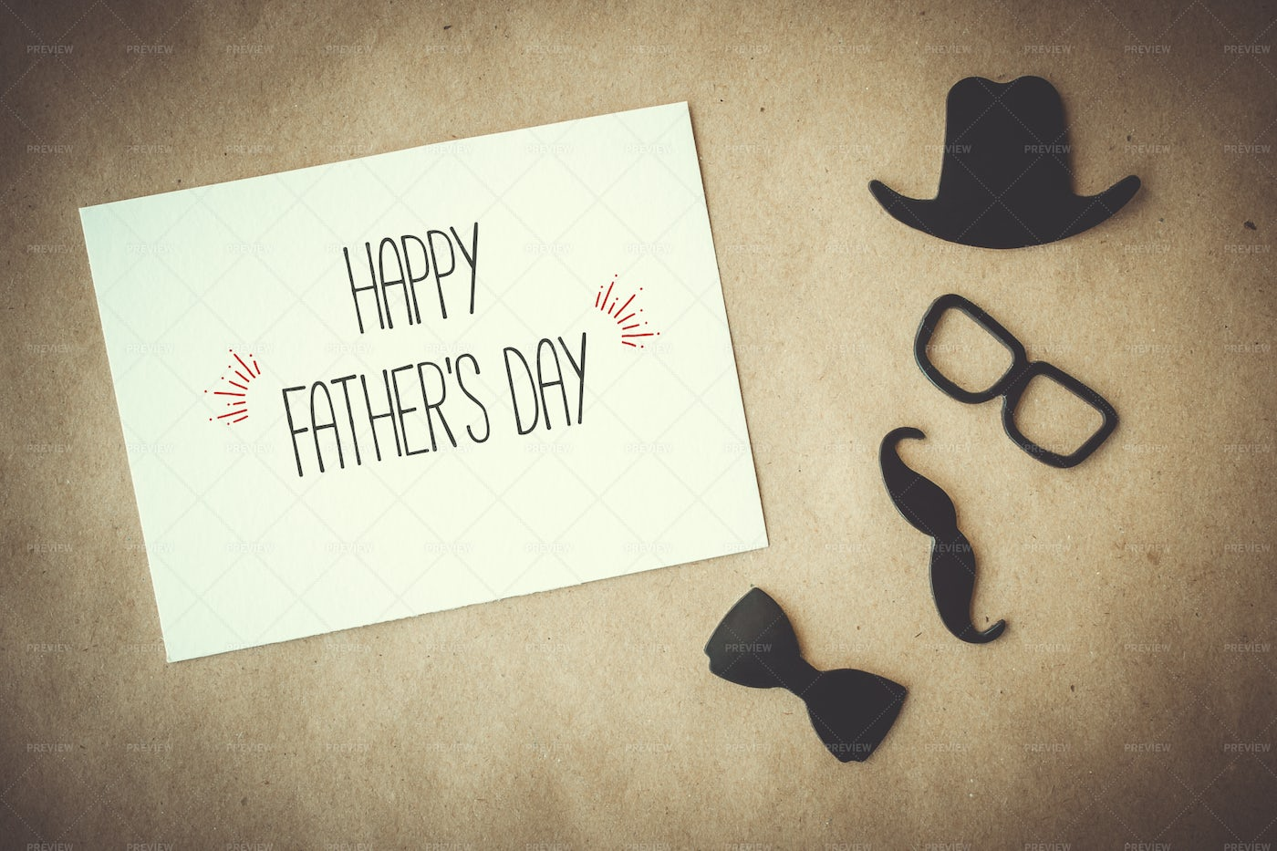 Father's Day Greeting Card: Stock Photos