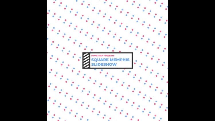 Square Memphis Style Slideshow: Premiere Pro Templates