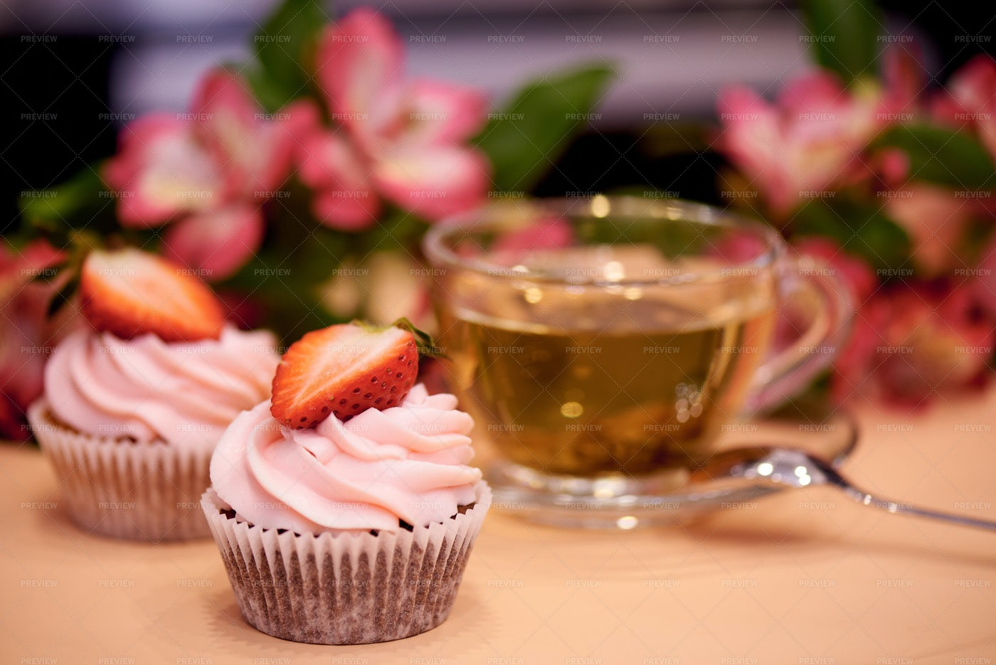 Sweets And Tea: Stock Photos