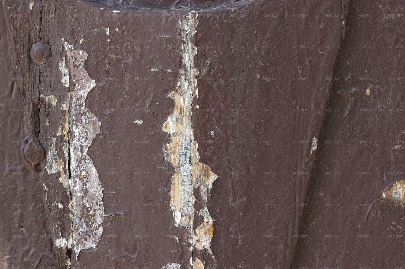 Shabby Wooden Brown Door: Stock Photos