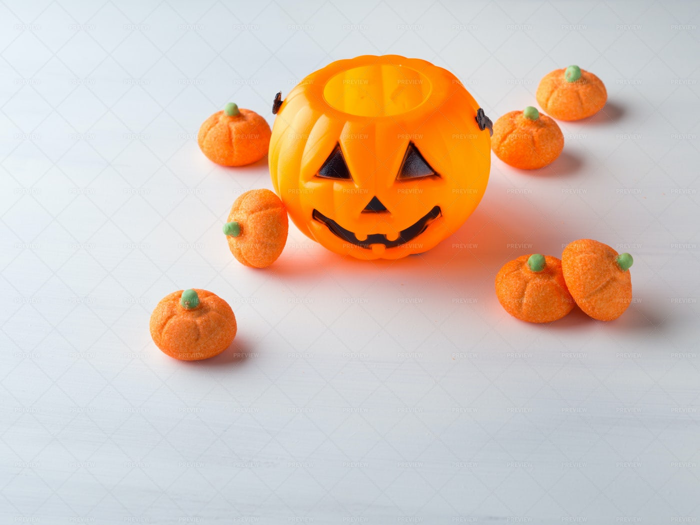 Pumpkin With Marshmallows: Stock Photos