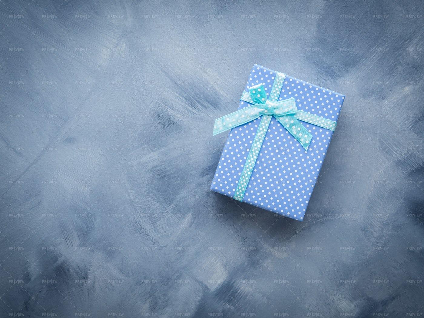 Blue Gift Box: Stock Photos