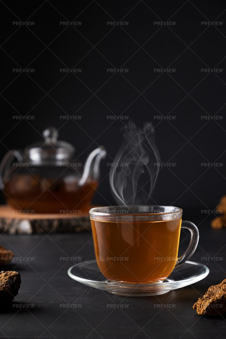 Hot Beverage In Glass: Stock Photos