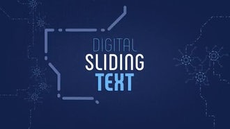 Digital Sliding Text: After Effects Templates