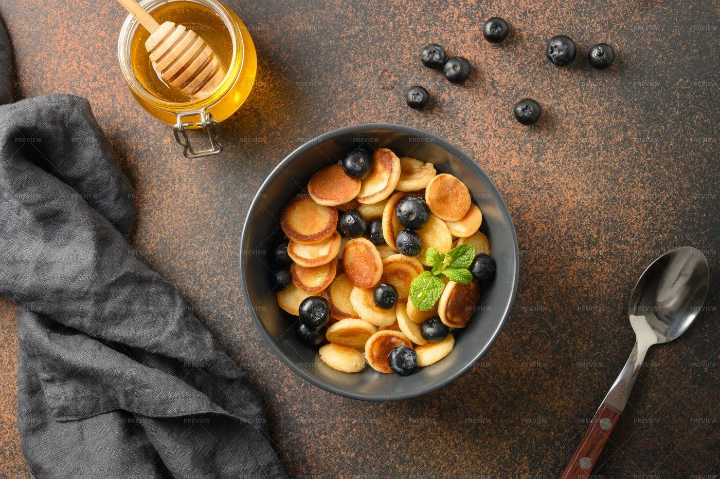 Homemade Tiny Pancake: Stock Photos