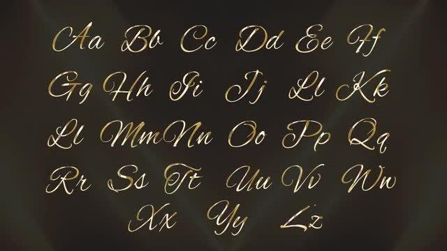 Golden Alphabet: Stock Motion Graphics
