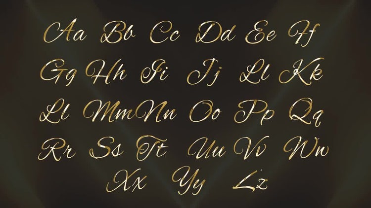 Golden Alphabet: Stock Motion Graphics