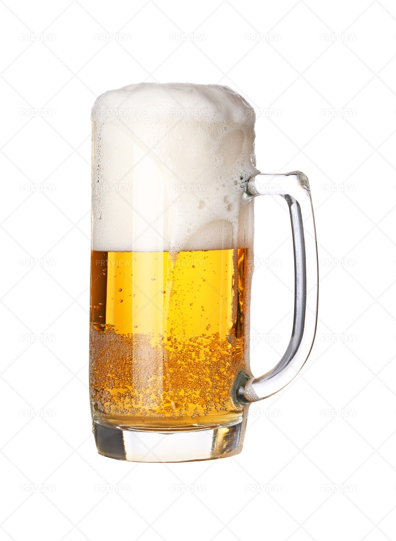 Frothy Beer: Stock Photos