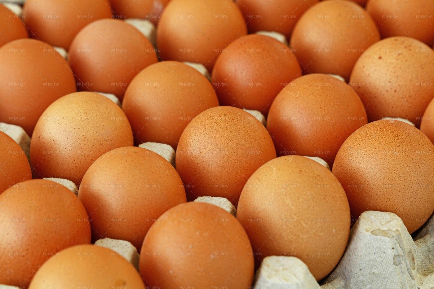 Brown Chicken Eggs: Stock Photos