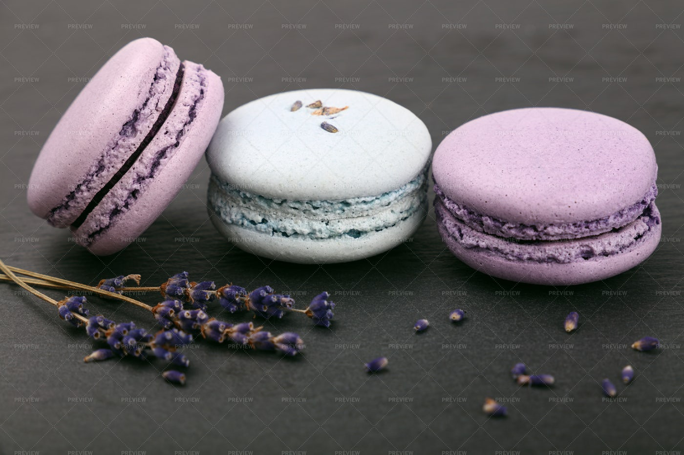 Purple Macaroon Cookies: Stock Photos