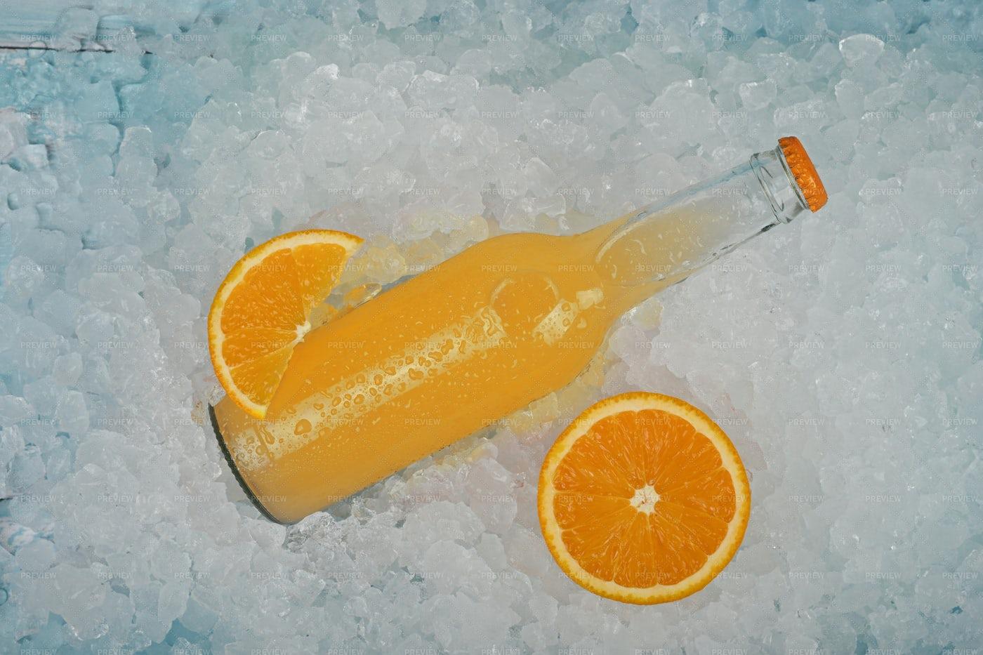 Orange Drink On Ice: Stock Photos