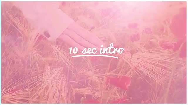 10 Sec Intro: After Effects Templates