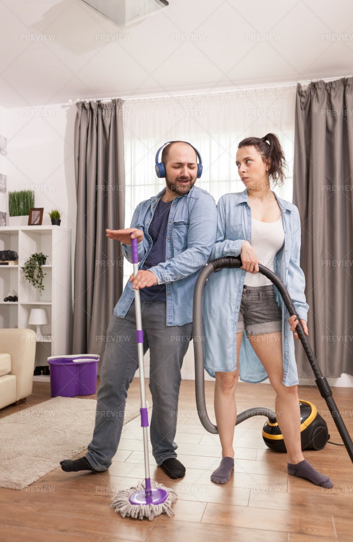 Husband Making Wife Angry: Stock Photos