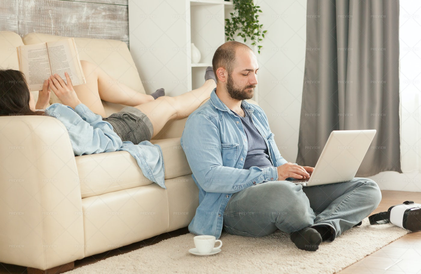 Relaxing At Home: Stock Photos