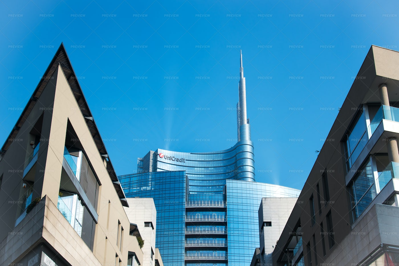 View Of Unicredit Tower: Stock Photos