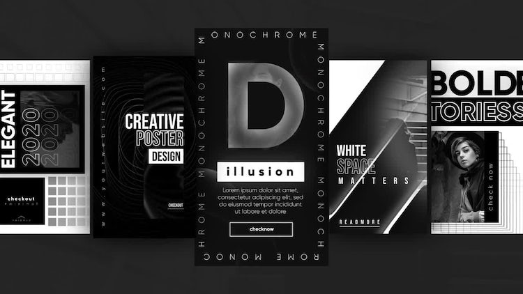 Instagram Monochrome Stories – Motion Graphics Templates | Motion Array Free Download