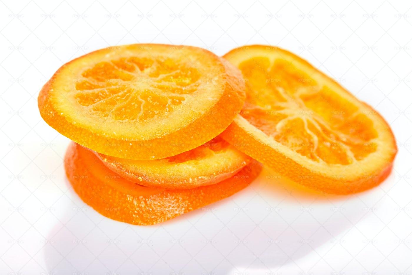 Slices Dried Oranges Or Tangerines: Stock Photos